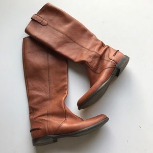 Madewell Archive Riding Boots Pull Up Leather